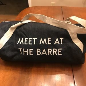 Meet Me At The Barre gym bag❤️
